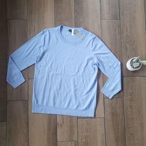 J Crew light blue sweater L knit